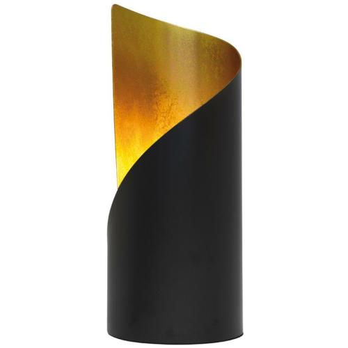 Tischleuchte Frank Schwarz Gold 1 X E14 Lampen Leuchten Und