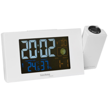 Projektionswecker mit Funkuhrwerk, FARBIGE LCD-Anzeige