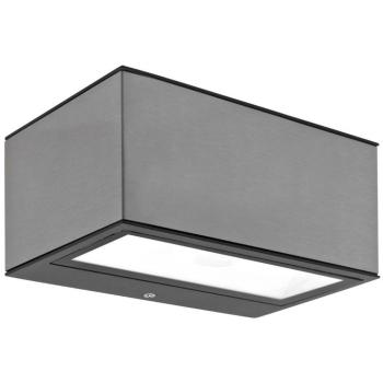 Außenwandleuchte GEMINI grau, LED/10,5 W, IP54