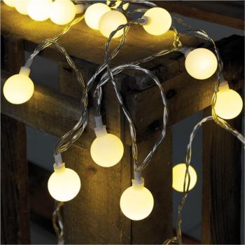 Partylichterkette, 50 x LED warmweiß, Länge...