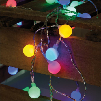 Partylichterkette, 50 x LED bunt, Länge 7,35 m