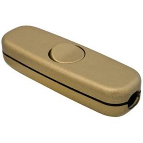 Schnurschalter, 3(2)A, 1-polig, gold