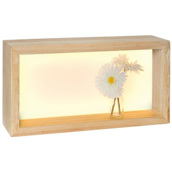 Wandleuchte Holzrahmen Eiche natur, LED/35W