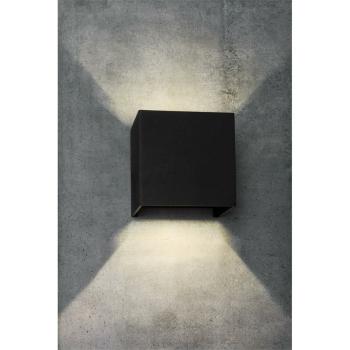 Außenwandleuchte schwarz LED/6W, 780 lm,...