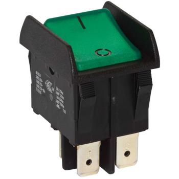 Einbau-Wippschalter, 250V/16(8)A, 2-polig