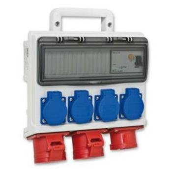 PCE Mobilverteiler, 4 x Schutzkontakt, 2 x CEE,