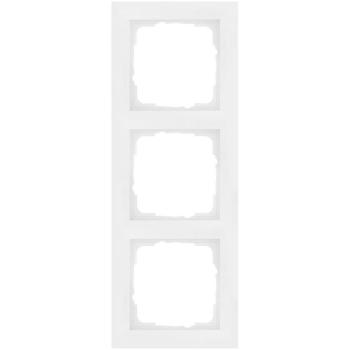 Abdeckrahmen, 3-fach, System 55, E2, reinweiß