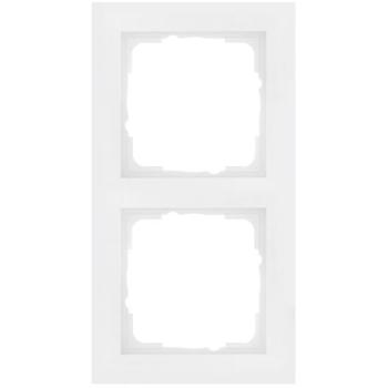 Abdeckrahmen, 2-fach, System 55, E2, reinweiß