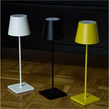 LED Akku-Tischleuchte NUINDIE schwarz  für...