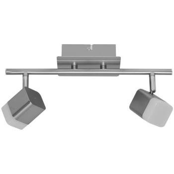 Schiene ROUBAIX Nickel matt 2-flammig 2 LED/4W 400 lm
