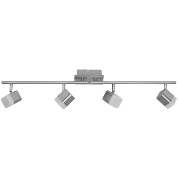 Schiene ROUBAIX Nickel matt 4-flammig LED/4W 400 lm