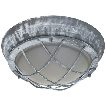 Außenwandleuchte OLENA, Industriedesign grau 1 x E27