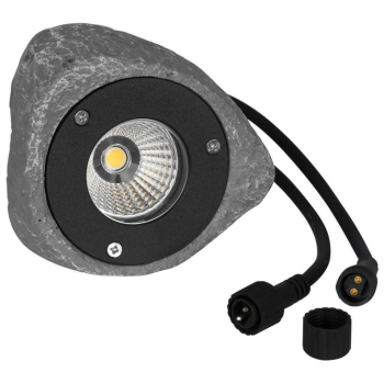 LED Gartenspot GARDEN 24, Stein Polyresin grau, LED/3W