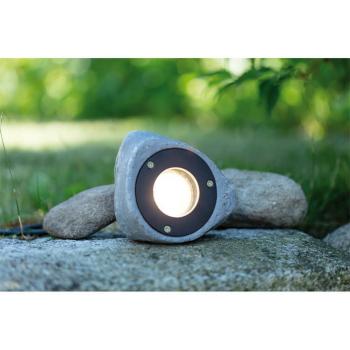 LED Gartenspot GARDEN 24, Stein Polyresin grau, LED/3W