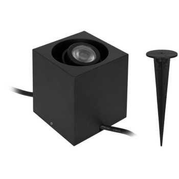 LED Gartenspot GARDEN 24, CUBE schwarz LED/3W