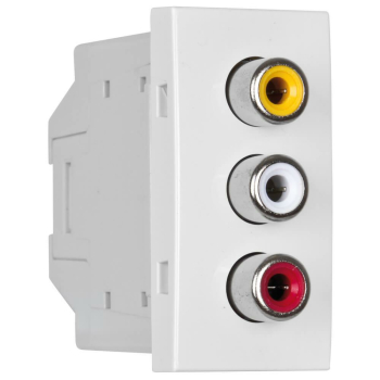 Modul-Einsatz 3 x Chinch Video & Audio L+R,...