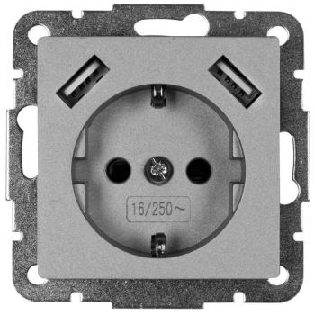 Kombi-Steckdose 2 x USB-Ausgang 5V/max. 2,8A...