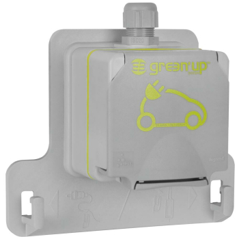 AP Schutzkontaktsteckdose GREEN UP 230V/16A-3,7KW grau
