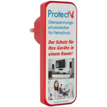 Überspannungsschutzstecker PROTECT V, weiß