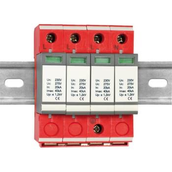 Überspannungsschutz TRS20-2/4p 275V/125A, 3-polig +...