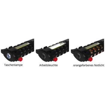 LED Taschenlampe mit Nothammer und Gurtmesser