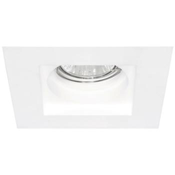 Deckeneinbaustrahler, 1 x GU10/50W, Keramik weiß
