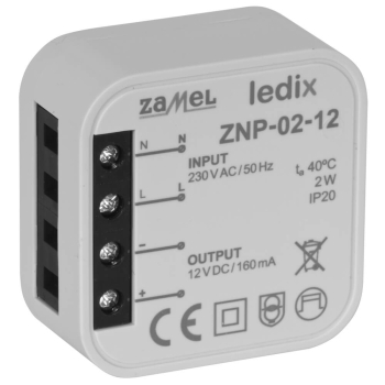 Elektronisches LED-Netzteil ZNP-02-12, 12V-DC/2W