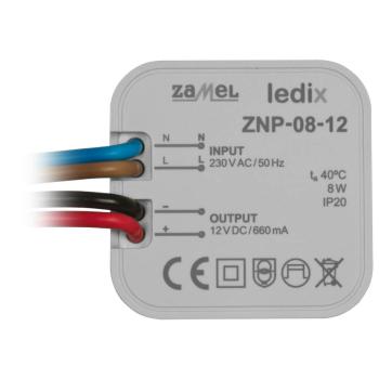 LED-Netzteil ZNP-08-12, 12V-DC/8W