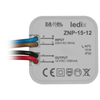 LED-Netzteil ZNP-15-12, 12V-DC/15W